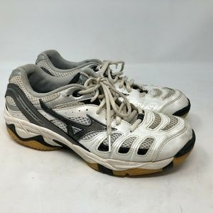 Mizuno Wave Rally White Black Volleyball Shoes 7.5